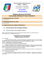 Stagione Sportiva 2013/2014 Comunicato Ufficiale N°10