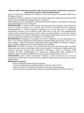 Bruni A, Caroleo M, Ciambrone P, Palmieri A, Rania M, Sinopoli F