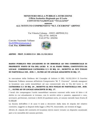 bando pubblico - Istituto Comprensivo MT Cicerone
