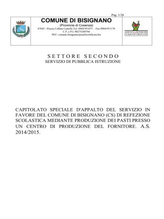 1 capitolato - Comune di Bisignano