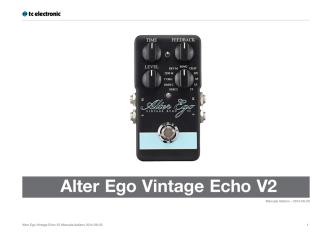 Alter Ego Vintage Echo V2