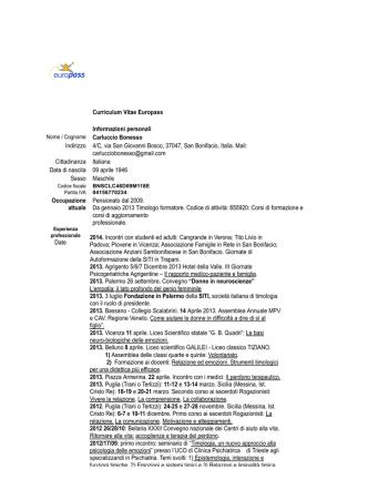 CV europeo 1 - Carluccio Bonesso
