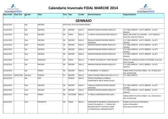 Calendario FIDAL invernale 2014