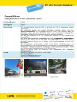 Energie/Wärme Energieeffizienz in der Gemeinde Latsch