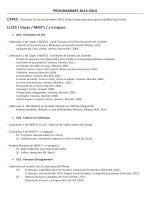 Programme 2013-2014 - UFR Langues et Communication