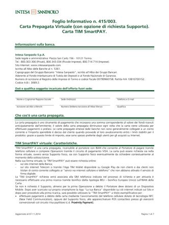Carta Prepagata TIM SmartPAY
