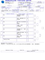 Sorteggio - Federazione Italiana Bocce