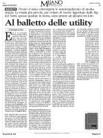 Al balletto delle utility