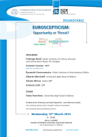 Euroscepticism: Opportunity or Threat?