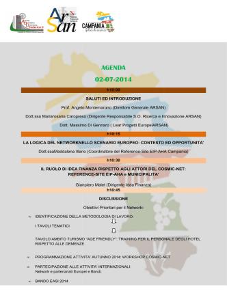 AGENDA meeting CosMiC-Net 2 Luglio-1x