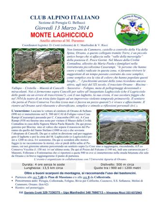 14-03-13 Monte Laghicciolo - CAI
