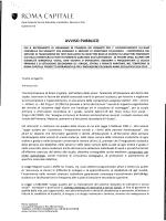 Avviso Pubblico - Comune di Roma