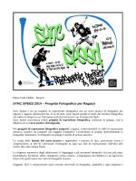 SYNC SPEED 2014 – Progetto Fotografico per