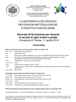Programma e Modulo di prenotazione