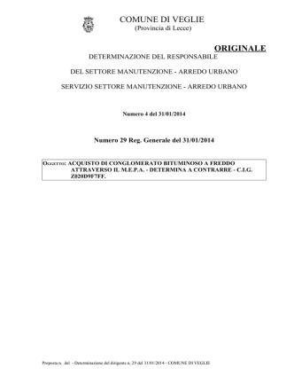 029 Det 2014 29 v1 - Comune di Veglie
