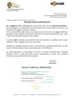 Nota ai MMG su Tipologie Vaccini Antinfluenzali