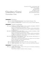 Gianluca Gorni – Curriculum Vitae