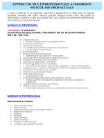 approccio multiprofessionale ai disordini muscolari