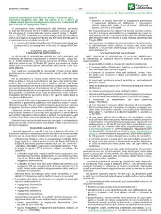 Bollettino Ufficiale Serie Avvisi e Concorsi n. 46