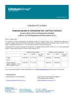 Comunicazione di variazione del capitale sociale