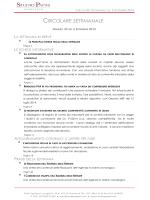 Circolare Settimanale N° 33 del 05.09.2014
