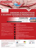 sindromi acroasfittiche e sclerosi sistemica progressiva