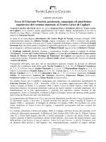 COMUNICATO STAMPA - Teatro Lirico di Cagliari