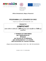 JUMPSTART - Università Ca