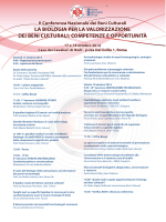 Programma - Corsi di laurea e laurea magistrale 2014-2015