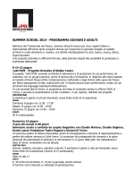 summer school 2014 - programma giovani e adulti
