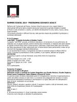summer school 2014 - programma giovani e adulti