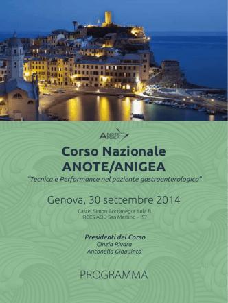 Corso Nazionale ANOTE/ANIGEA
