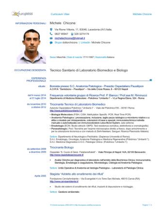 Curriculum - Associazione Italiana per la Lotta al Neuroblastoma