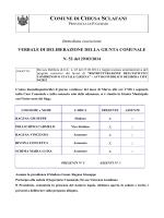 Revoca Delibera di G.C. n. 45 del 27/03/2014 e riapprovazione