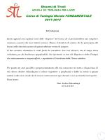Corso di Teologia Morale FONDAMENTALE 2011-2012