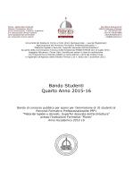 """Bando Studenti Quarto Anno 2015-16 - Istituto Beni Culturali """"Flores"""""""
