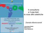Il consultorio e il pap-test: la voce alle ostetriche