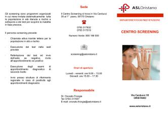 Carta informativa Centro Screening