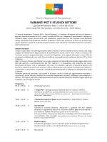 VARIANTI PGT E STUDI DI SETTORE