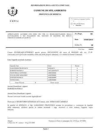 ATTO PDF - Spilamberto - Comune di Spilamberto