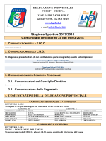 Stagione Sportiva 2013/2014 Comunicato Ufficiale N°34