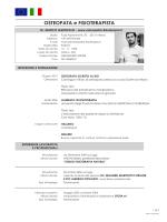 scarica qui il mio cv - Osteopatia Fisioterapia Milano