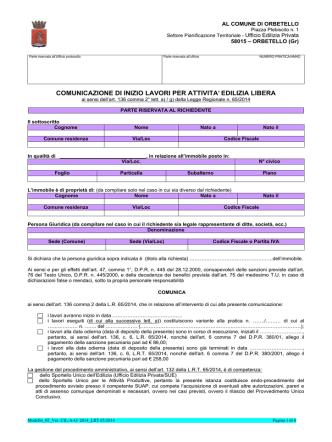 comunicazione inizio lavori art 136 lett a-g lrt 65-2014