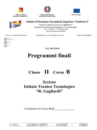 2B_ITT - Programmi finali