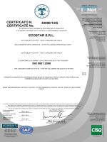 ISO 9001:2008 - Ecostar srl