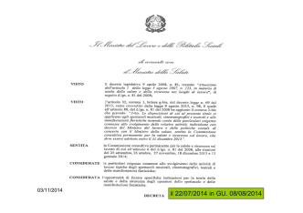 2014-10-30 SLIDE BERTOLDO Decreto Palchi corso2014
