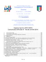 Comunicato Ufficiale N° 46 del 24/04/2014