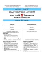 Bollettino n. 17 del 28 aprile 2014 - Regione Autonoma Trentino Alto