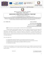 Comunicazione avvio procedure PON E-1-FESR-2014