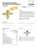 Miscelatore termostatico per impianti solari centralizzati